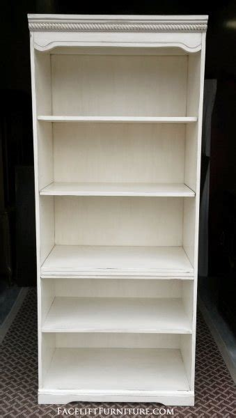 bookshelves painted glazed distressed facelift