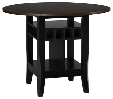 Counter Height Dining Table With Leaf Drop Leaf Counter Height Table Contemporary Dining Tables By Shopladder