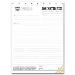 Business Estimate Template estimate business forms free shipping