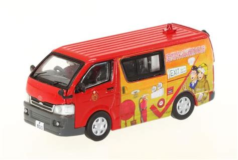 hong kong fire services dept hkfsd toyota hiace  advertise network shuttle diecast