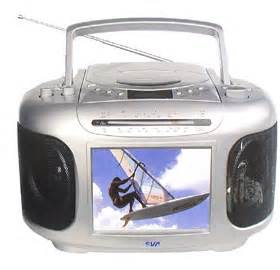 Tv radio combo sva cd player portable tv fm am radio tft lcd