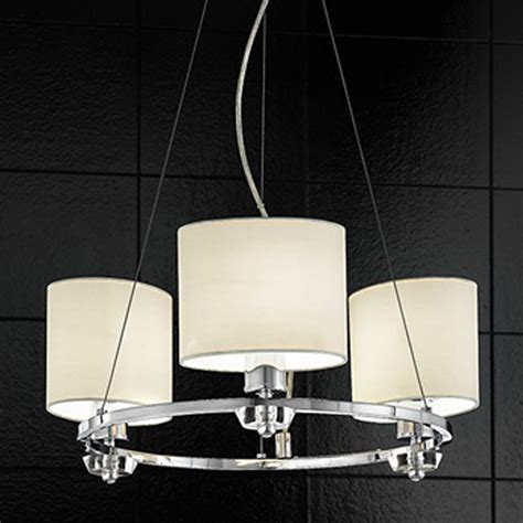 L Shades Lighting by Franklite Piazza L Energy Chrome Oval Shades