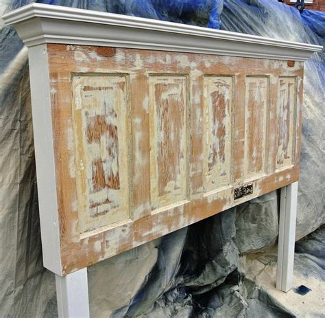 Headboard Made From Door by Distressed 85 Year Door Made Into King Size Headboard