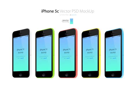 3 iphone mockup iphone 5с 3 4 views all colors vector psd mockup pixels psd templates with