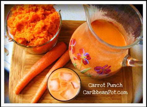 how to make caribbean style carrot punch juice