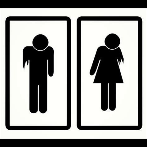 zombie bathroom zombie bathroom signs flickr photo sharing
