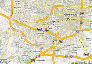 map of greensboro carolina map of greensboro days inn greensboro