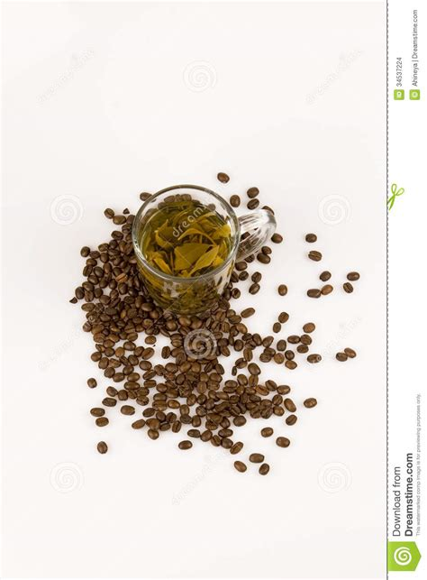 Green Cofee Herbal coffee and tea stock images image 34537224
