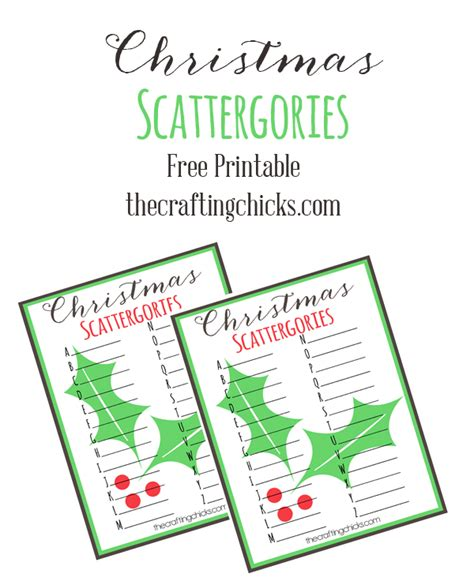 christmas scattergories free printable the crafting