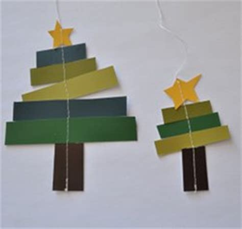 Craft With Paper Strips - paper tree ornaments