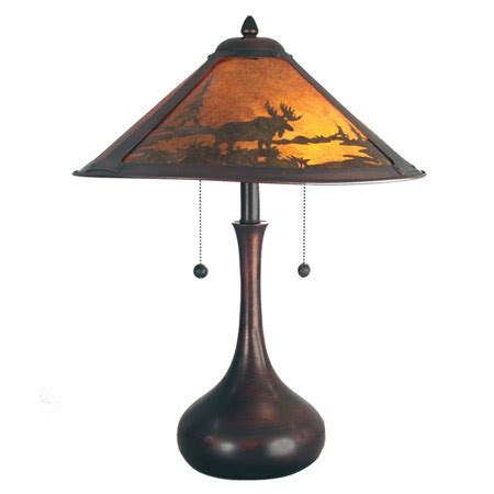 Dale Tiffany TT80484 Wilderness Moose Table Lamp