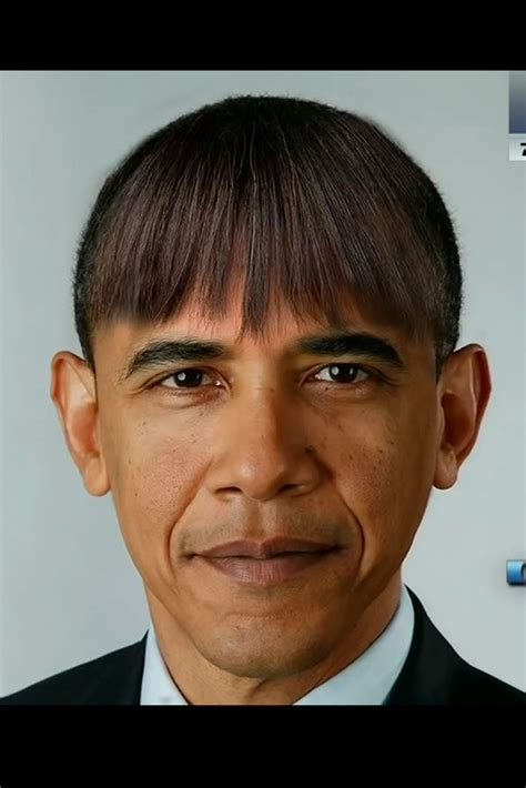 obama wife haircut barack obama wears wife michelle s fringe in spoof pictures