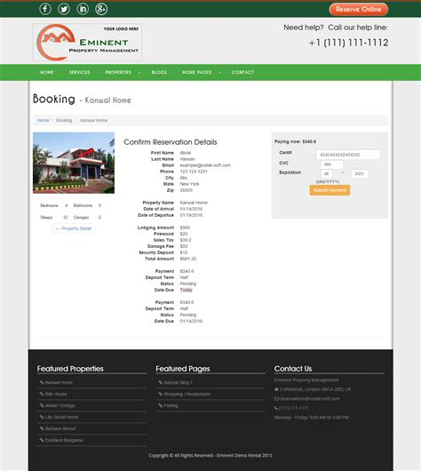 Ideal Rental Property Record Eminent Vacation Rental Property Listing Real Estate Portal Php Script By Noblesoft