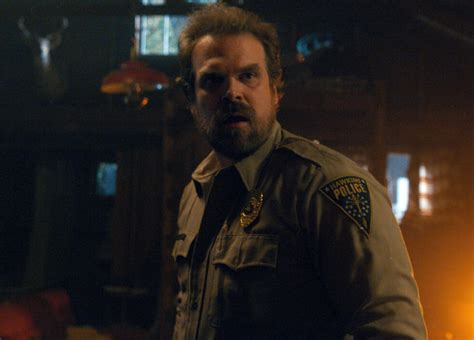 stranger things david harbour on stranger things 2 hellboy and indiana