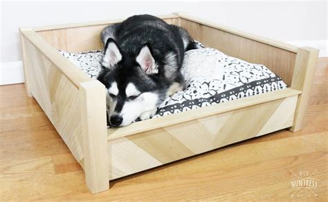 diy chevron wooden dog bed buildsomethingcom