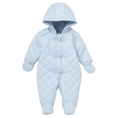 Quilted Snowsuit For Baby by Mothercare Baby Newborn Boy S Quilted Snowsuit Blue