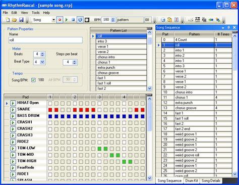 drum pattern software free rhythm rascal software drum machine program