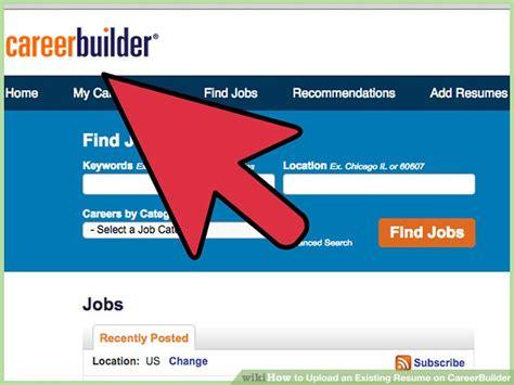 upload resume to careerbuilder resume ideas