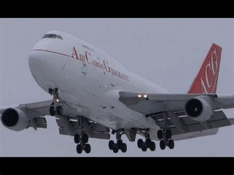 air cargo germany boeing 747 400 landing chicago o hare from frankfurt hahn edfh hhn
