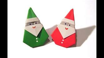 How To Make An Origami Santa - origami santa claus easy origami how to m