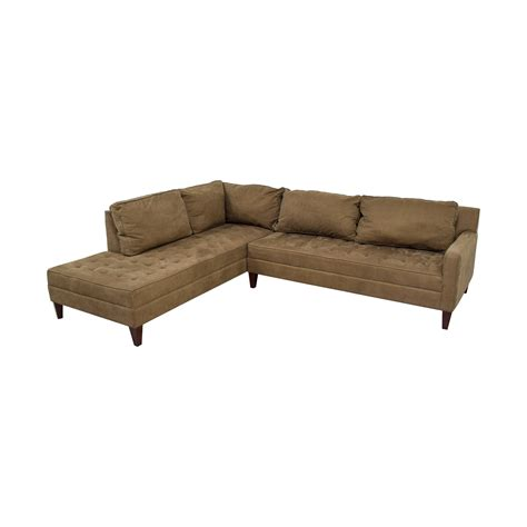 L Shaped Sectional With Chaise 74 Z Gallery Z Gallery Brown Tufted Chaise L Shaped Sectional Sofas