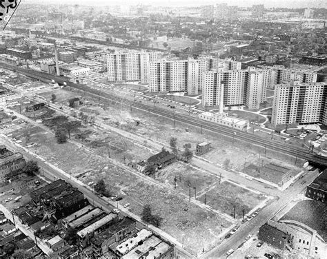 Historic Illinois From The Air clearing entire blocks way for the dan 1959