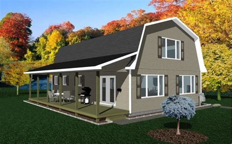 gambrel barn house plans barn living pole quarter with metal buildings gambrel