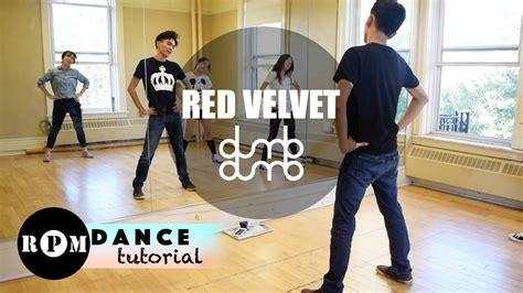 tutorial dance red velvet red velvet quot dumb dumb quot dance tutorial chorus youtube