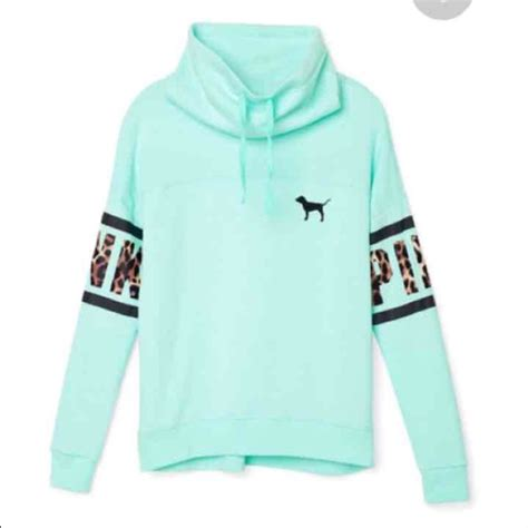 Pink Two Color Sweater Kk406 pink s secret traded vs pink blue cowl neck