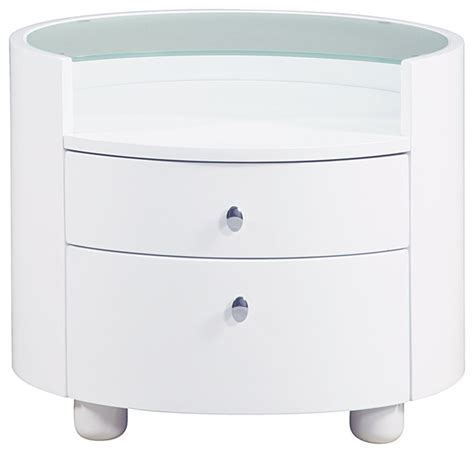 Glass Nightstand Emily Glass Top Nightstand Contemporary
