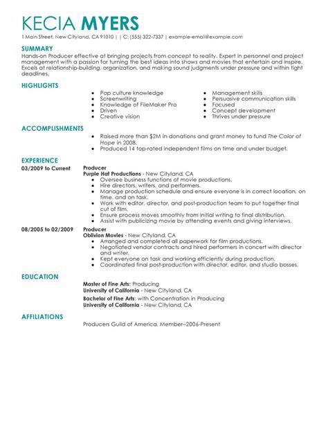 resume example media resume ixiplay free resume samples