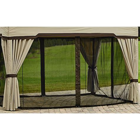 gazebo privacy curtains garden oasis replacement curtain for privacy gazebo 5w