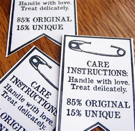 Care Labels For Handmade Items - 17 best images about care labels and tags on