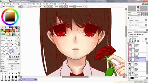 paint tool sai fan made speed paint paint tool sai fanart ib