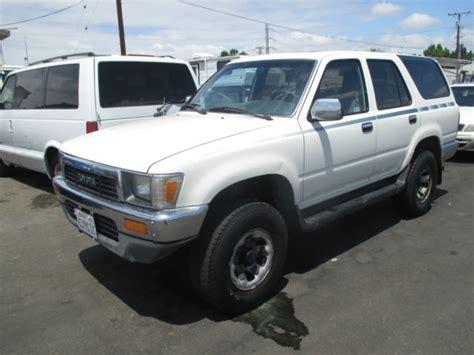Toyota 4runner For Sale In California 1991 Toyota 4runner Sr5 Sport Utility 4 Door 3 0l No Reserve