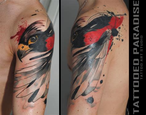 falcon tattoo by dopeindulgence on deviantart