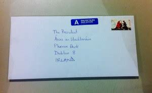 letter address format ireland letter writing caign to the president of ireland the