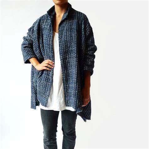 swing jackets from india neeru kumar collection hand woven swing coat in indigo