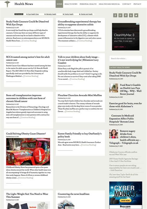 news aggregator template health news aggregator ahead hosting