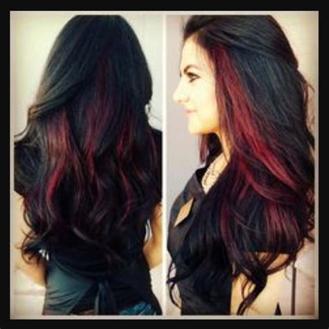 color or streaks in jlos hair black hair with red streaks hair nails cosmetics and