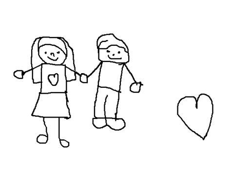 imagenes para dibujar de parejas dibujo de pareja de j 243 venes para colorear dibujos net