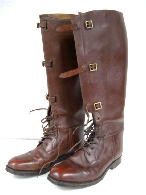 ww1 officers issue trench boots also used ww2