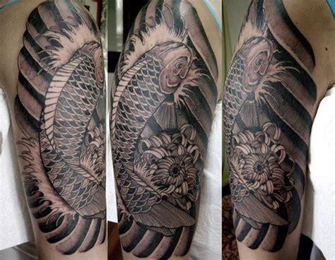 koi tattoo grey koi tattoo black and greyhelenasaurus