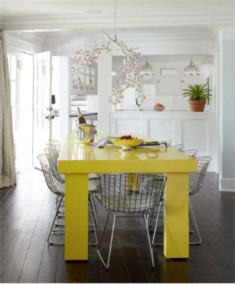 Yellow Kitchen Table Yellow Dining Room Table Marceladick