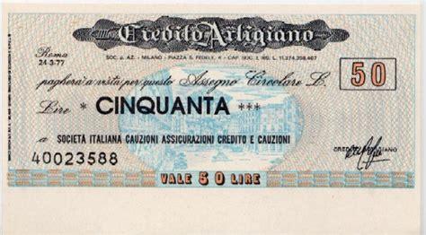 credito artigiano credito artigiano la lira banconote monete e miniassegni