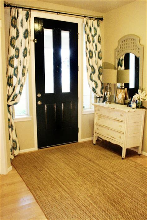 Front Door Curtain Ideas Curtains The Entry Way Home Ideas Front Doors Doors And Window