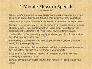 30 Second Elevator Speech Outline by Exles Of Speech About Education Just B Cause