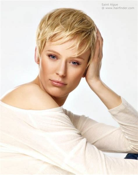 short haircuts cut toward the face short blonde hair with the back cut short and directed