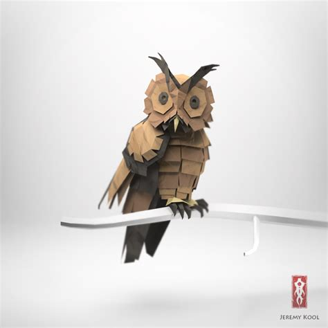 Origami Paper Owl - 3d origami illustrations of animals motley news