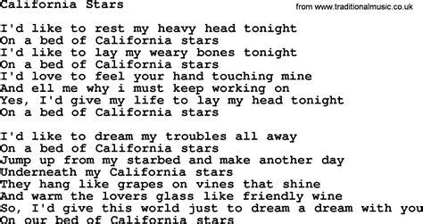 woody guthrie song california stars lyrics